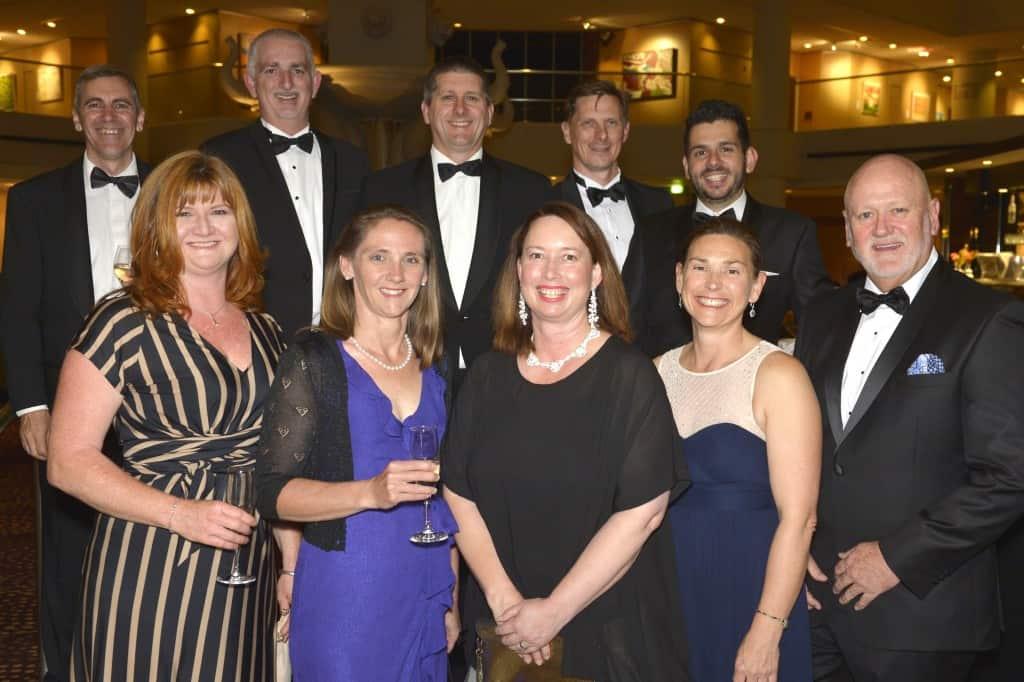 Group photo at awards