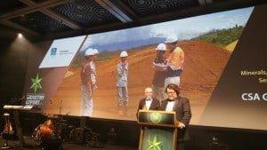 Jeff Elliott accepting CSA Global award
