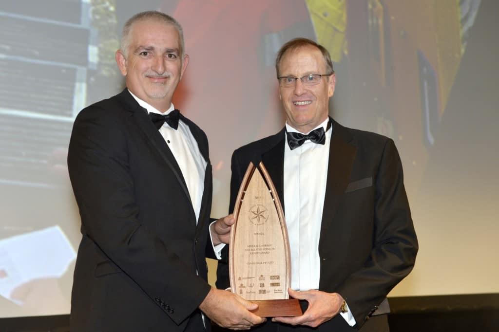 Jeff receiving the award