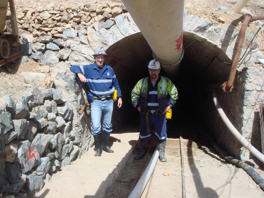 Jeff Elliott, Managing Director, CSA Global onsite at the Caijiaying Mine in China