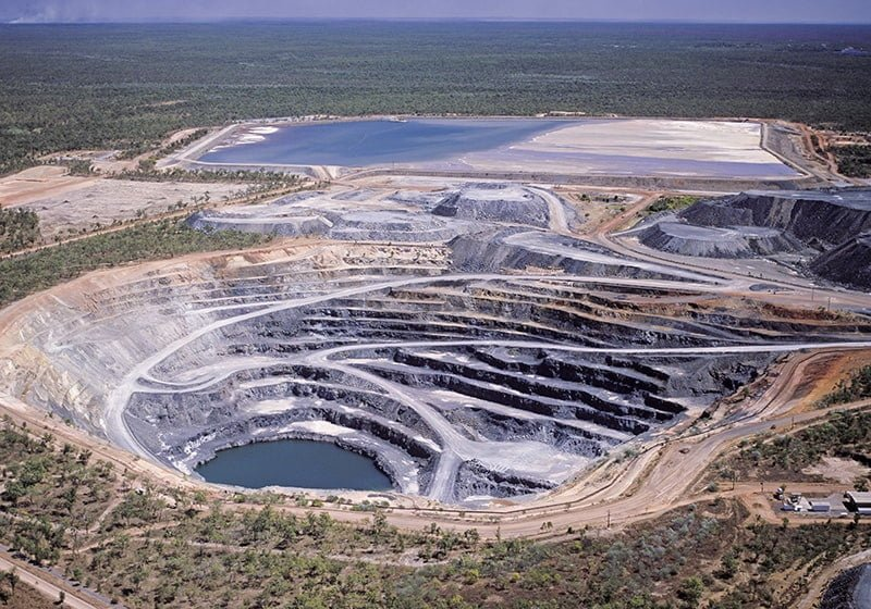 Open-cut uranium mine