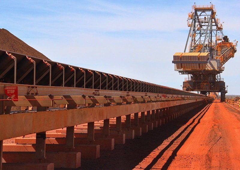 Iron ore conveyor belt