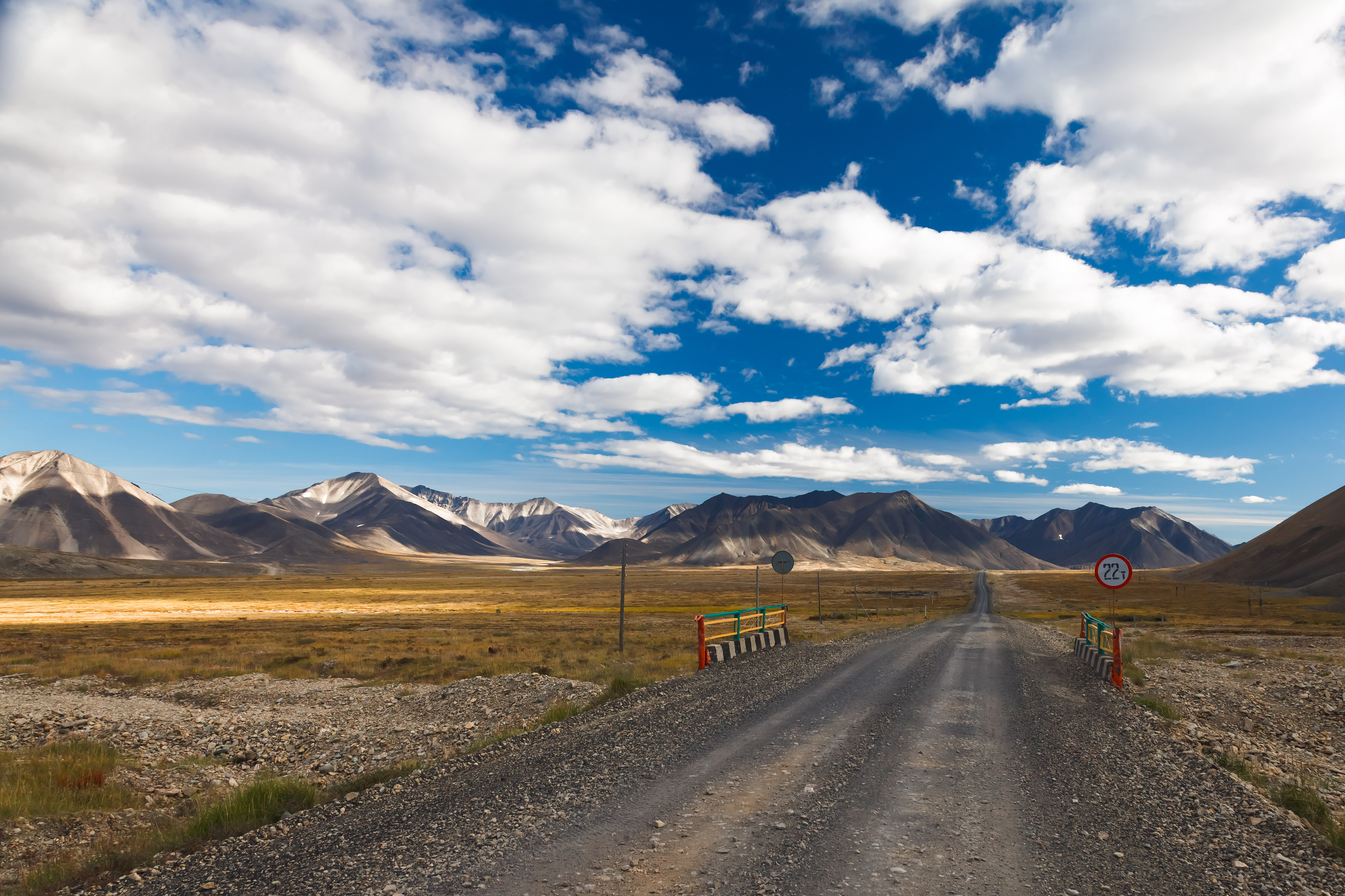 Causeway crossing Chukotka from the Barents Sea to the Arctic Ocean.