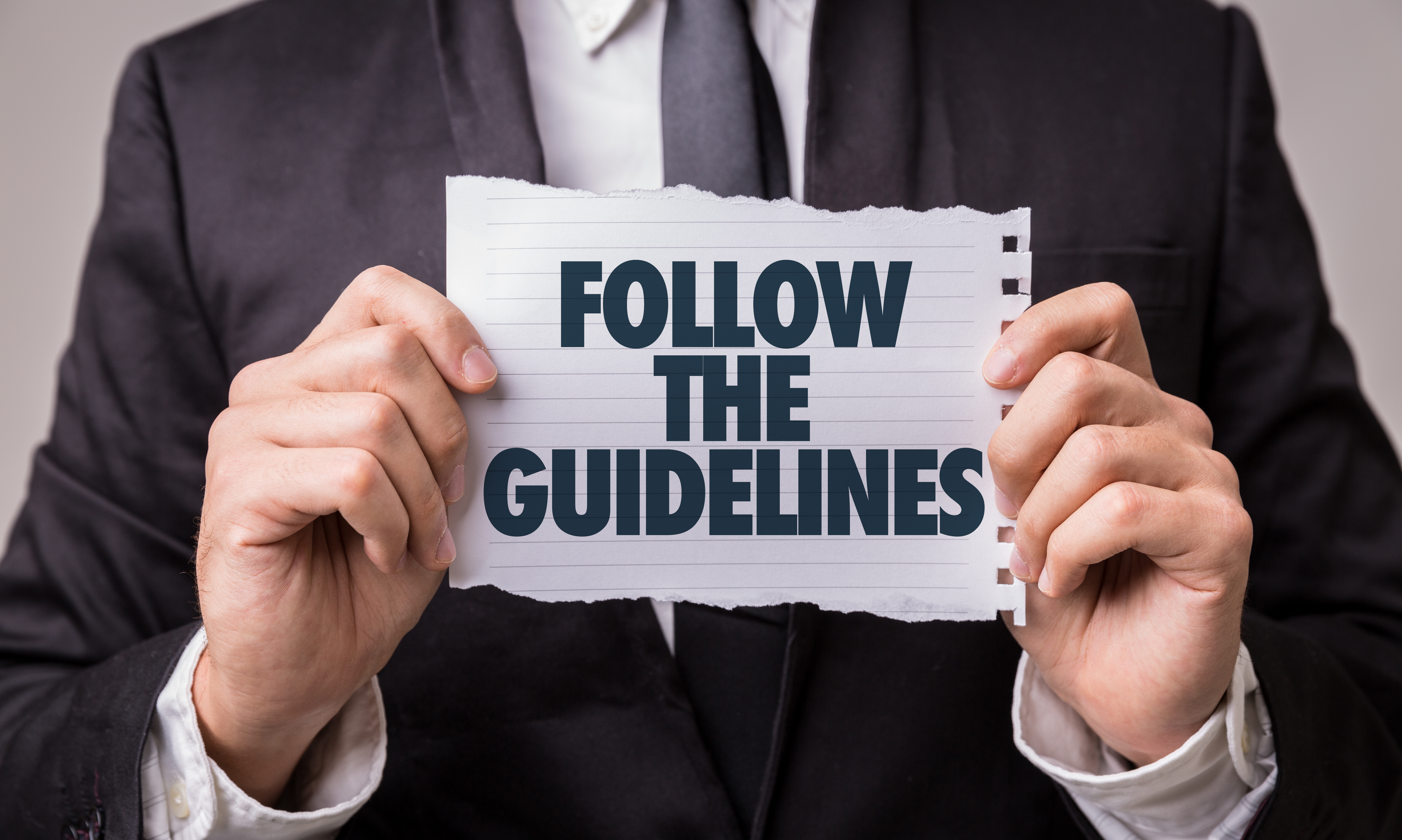 Follow the Guidelines paper sign
