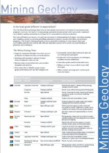 Mining Geology Capability Brochure