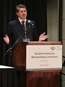 President of Americas, Stan Wholley announcing Student Bursary Awards Program in Canada.