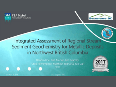 An Integrated Assessment of Regional Stream Sediment Geochemistry in Northwest British Columbia