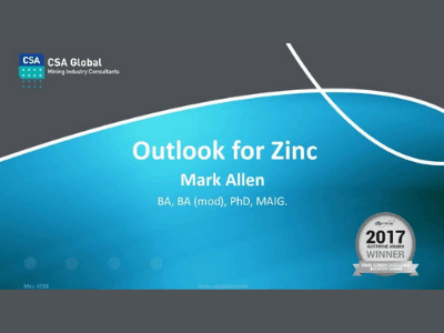 Global Outlook for Zinc