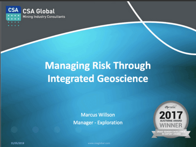 managing risk through integrated geoscience