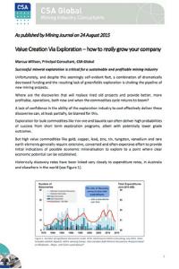 Value Creation Via Exploration