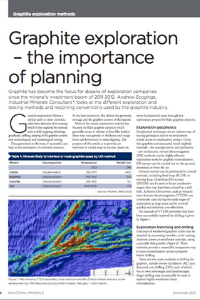 Graphite Exploration – The Importance of Planning