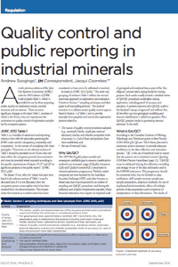 Quality Control And Public Reporting in Industrial Minerals