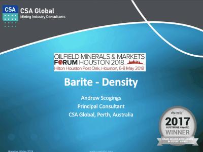 Barite – Density