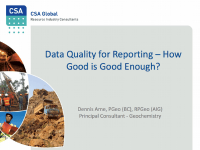Data Quality For reporting, How Good is Good Enough?