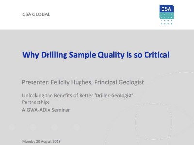 "Unlocking The Benefits Of Better ""Driller-Geologist"""
