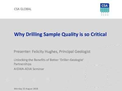 "Unlocking The Benefits Of Better ""Driller-Geologist"""