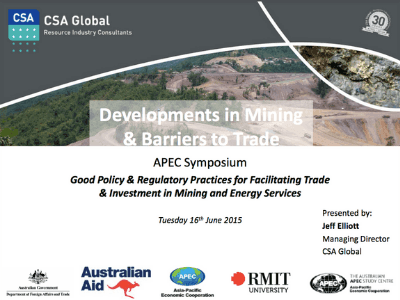 Developments in Mining and Barriers to Trade