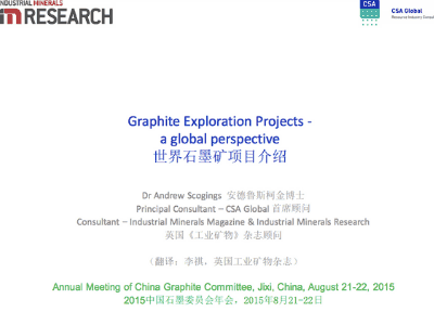 Graphite Exploration Projects – A  Global Perspective