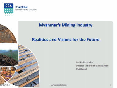 Myanmar's Mining – Realities and Visions for The Future – November 2014