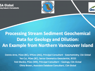 Processing Stream Sediment Geochemical Data For Geology an Example From Vancouver Island