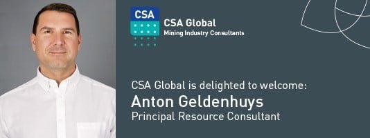 Anton Geldenhuys Principal Resource Consultant, CSA Global