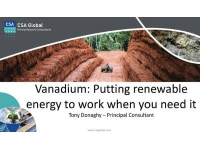 Vanadium: Putting renewable energy to work when you need it