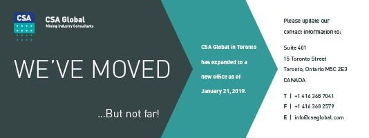 CSA Toronto has moved.