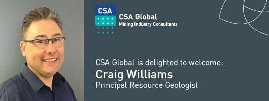 Welcome Principal Resource Geologist Craig Williams