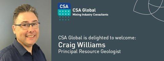 Welcome Principal Resource Geologist Craig Williams
