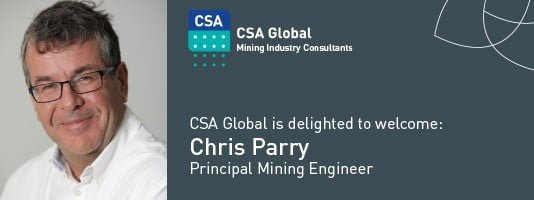 Welcome Principal Mining Engineer Chris Parry