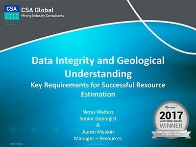 Data integrity and geological understanding