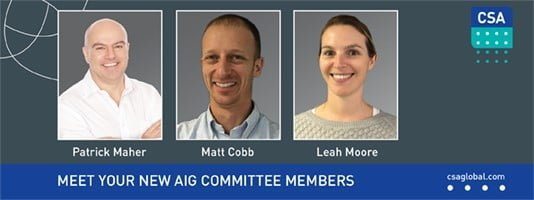 CSA's new committee members