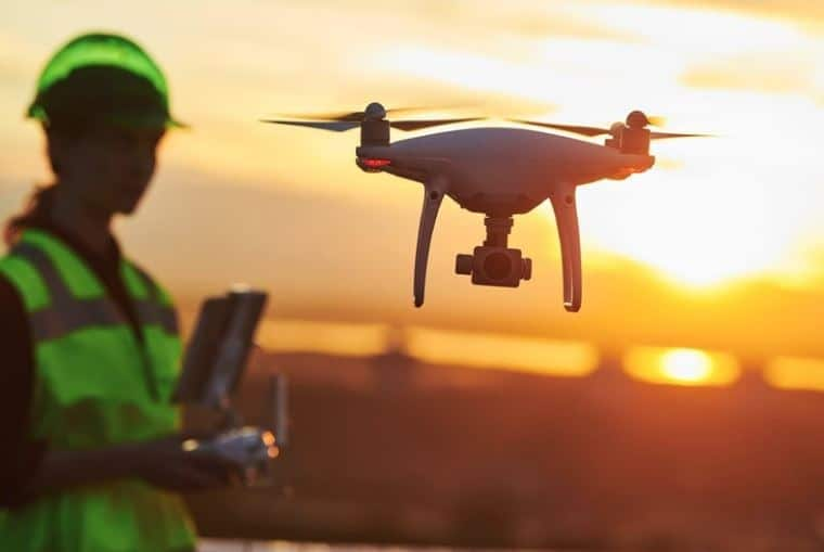 Exploration using a camera drone