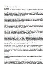 Soaking it up: Bentonite's global reach