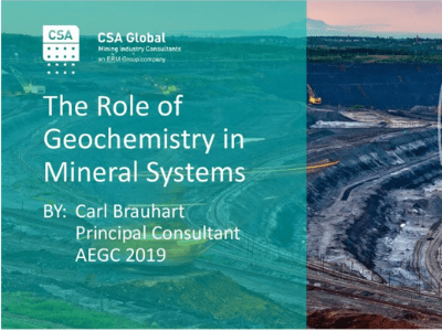 The Role of Geochemistry in Mineral Systems