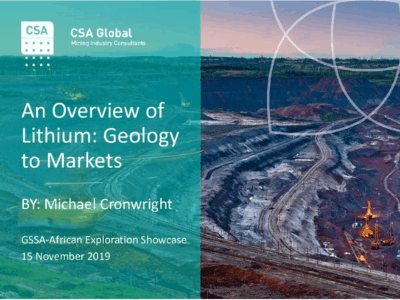 An Overview of Lithium: Geology to Markets