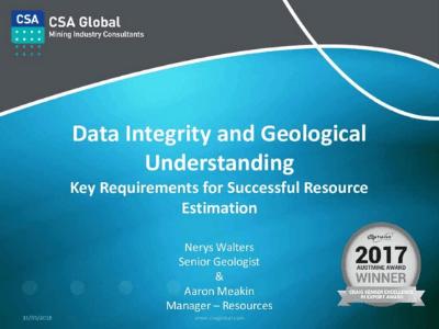 Data Integrity & Geological Understanding