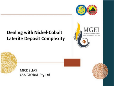 Dealing with Nickel-Cobalt Laterite Deposit Complexity
