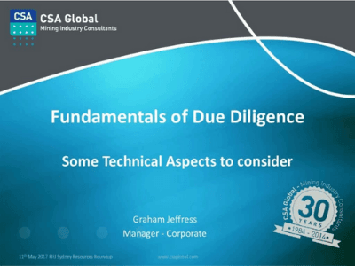 Fundamentals of Due Diligence