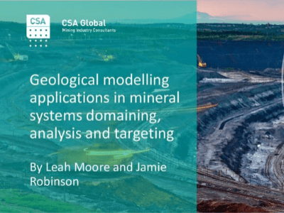 Geological Modelling Applications in Minerals Systems Domaining, Analysis & Targeting