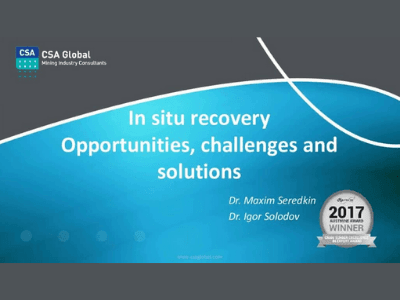 In-Situ Recovery: Opportunities, Challenges & Solutions