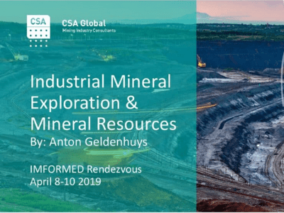 Industrial Mineral Exploration & Mineral Resources