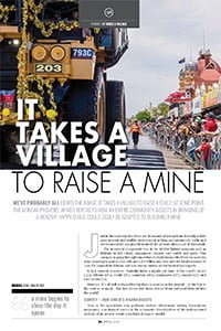 It takes a village to raise a mine