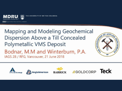 Mapping & Modelling Geochemical Dispersion Above a Till Concealed Polymetallic Volcanogenic