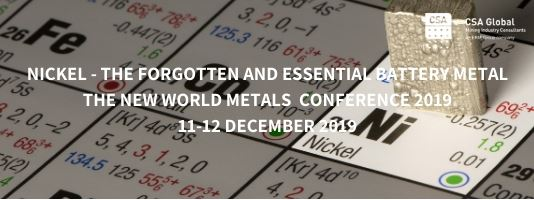 New World Metals Conference 2019