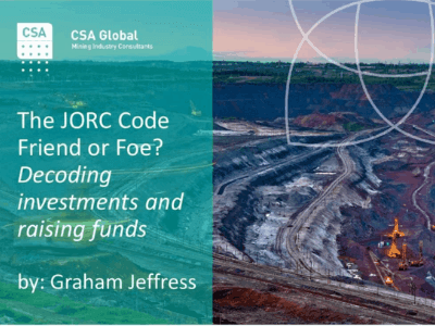 The JORC Code Friend or Foe?