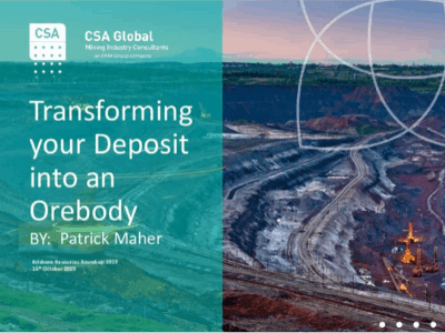 Transforming Your Deposit into an Ore Body