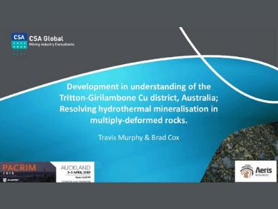 Development in Understanding of the Tritton-Girilambone Cu District, Australia