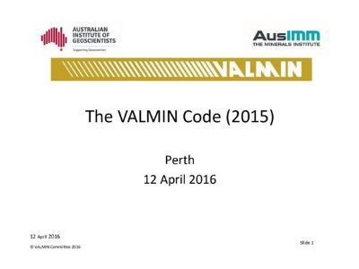 VALMIN 2015 – A Brief Introduction
