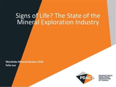 The State of Mineral Exploration in Canada, Situated Within a Global Context